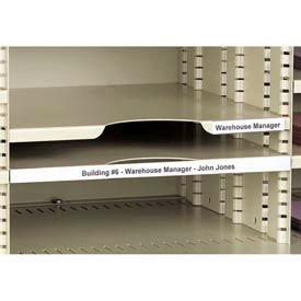 """Label Holders, 1"""" x 6"""", Clear, Removable (12 pcs/pkg)"""