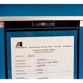 "Label Holders, 5/8"" x 3"", Clear, T-Slot Sign Holder (50 pcs/pkg)"