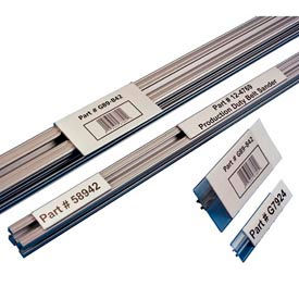 "Label Holders, 2"" x 6"", Clear, T-Slot Aluminum Extrusion (25 pcs/pkg)"