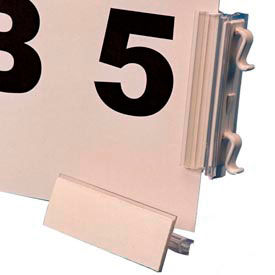 """Slip N Stik, Warehouse Aisle Sign Kit, 8-1/2"""" x 11"""" Self Adhesive, White (10 pcs/pkg)"""