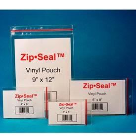 "Zip Seal Vinyl Pouches, 4"" x 6"", Self-Adhesive (25 pcs/pkg)"