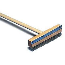 """American Metalcraft 1698 Oven Brush, 60"""" Wood Handle, 10"""" Wide, Brass Bristles... by"""