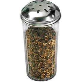 American Metalcraft 3317 - Spice Shaker, 12 Oz., Dishwasher Safe, San Plastic, Stainless Steel Top