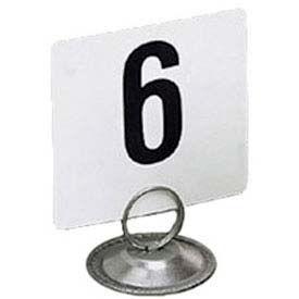 "American Metalcraft 425 - Table Numbers, Numbers 1 Thru 25, 4"" Square"