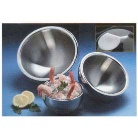 American Metalcraft AB8 - Bowl, 54 Oz., Angled, Two Bottom Indentions, Double Wall