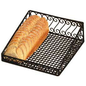 Display Basket, Angled, 12X12X4, Scroll Design, Black Wrought Iron