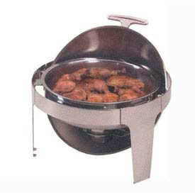 American Metalcraft ADAGIORD18 - Adagio Chafer, 7 Qt., Round, Roll-Top Opens To 90° & 180°