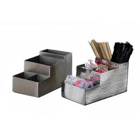 "American Metalcraft BARS5 - Coffee/Bar Organizer, 8""L x 4""W x 4""H, 4 Comp"