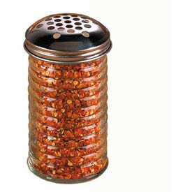 American Metalcraft BEE319 - Cheese Shaker, 12 Oz., Extra Large Holes, Glass, W/Stainless Steel Top