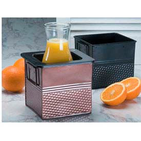 "American Metalcraft BEVB556 - Beverage Tub, 6-1/4"" x 5-3/4"" x 5-3/4"", Black, Rectangle"