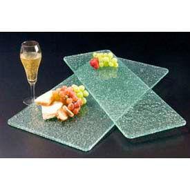American Metalcraft BG1224 - Glacier Platter, 12 x 24, Rectangular, Flat, Bubble Glass, Green