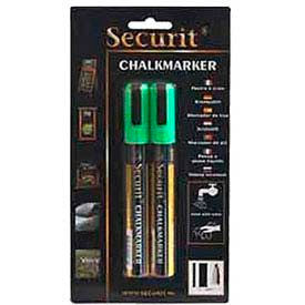 American Metalcraft BLSMA510GR - Securit Chalk Markers, Rain & Smear Proof, Small Tip, Green, 2 Pack