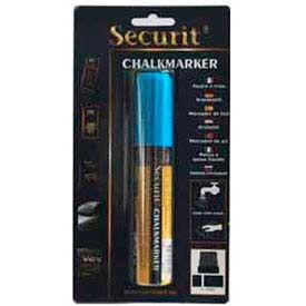 American Metalcraft BLSMA720BU - Securit Chalk Markers, Rain & Smear Proof, Big Tip, Blue