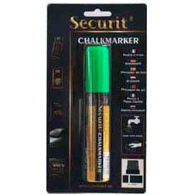 American Metalcraft BLSMA720GR Securit Chalk Markers, Rain & Smear Proof, Big Tip, Green by