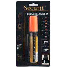 American Metalcraft BLSMA720OR - Securit Chalk Markers, Rain & Smear Proof, Big Tip, Orange