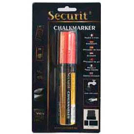 American Metalcraft BLSMA720RD - Securit Chalk Markers, Rain & Smear Proof, Big Tip, Red