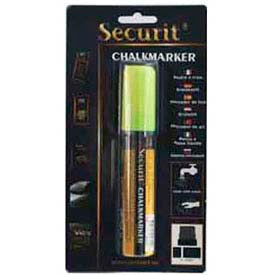 American Metalcraft BLSMA720YE Securit Chalk Markers, Rain & Smear Proof, Big Tip, Yellow by