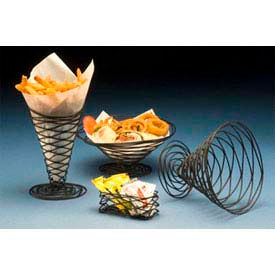 "American Metalcraft BNB9 - Birdnest Basket, 9"" Dia. x 4""H, Conical, Wire W/Black Finish"