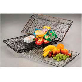 American Metalcraft BNBB13202 - Birdnest Basket, 20 x 13 x 2, Rectangular, Wire W/Black Finish