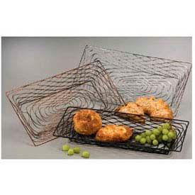 American Metalcraft BNBB32 - Birdnest Basket, 18-1/4 x 8-1/8 x 1-1/2, Rectangular, Wire, Black