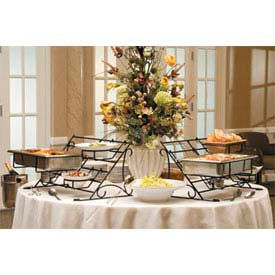American Metalcraft BSR100 - Rack Buffet System, Large, 29-3/4 x 18-1/4 x 15-1/2, Wrought Iron