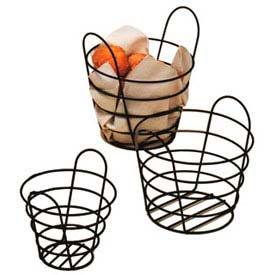 """American Metalcraft BWB750 - Basket, Round, 7"""" Dia. x 5""""H, Black Wire"""