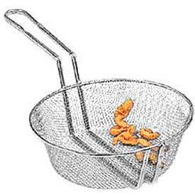 "American Metalcraft CBF10 - Culinary Basket, 10"" Dia., 3"" Deep, Fine Mesh"