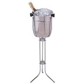 American Metalcraft CBS33 - Champagne Bucket & Stand, Holds 2 Bottles