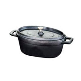 American Metalcraft CIPOV745 - Baking Dish, 27.051 Oz.,  Oval, With Handles And Lid, Cast Iron