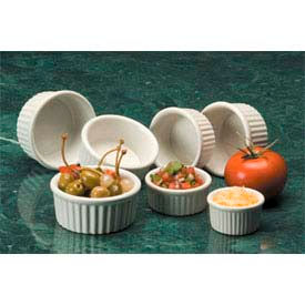 American Metalcraft CRMK6 - Ramekin, 6 Oz., Ceramic, Fluted, White