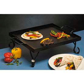 American Metalcraft GS16 - Griddle, 16 x 16 x 5, Includes Stand, Black Wrought Iron