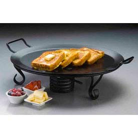 """American Metalcraft GS81 - Griddle, 18"""" Dia., Round, Wrought Iron, Black"""