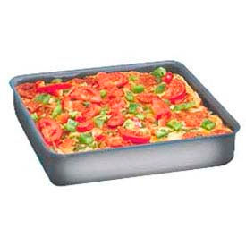 "American Metalcraft HCSQ1210 - Deep Dish Pan, Straight Sided, 12"" x 12"" x 1"" Deep, With Hard Coat"