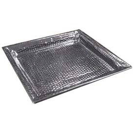 """American Metalcraft HMSQ16 - Serving Tray, Square, 16 x 16, 1-1/2"""" Deep, Hammered"""