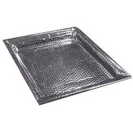 """American Metalcraft HMSQ20 - Serving Tray, Square, 20 x 20, 1-1/2"""" Deep, Hammered"""