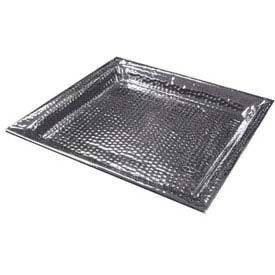"""American Metalcraft HMSQ22 - Serving Tray, Square, 22 x 22, 1-1/2"""" Deep, Hammered"""