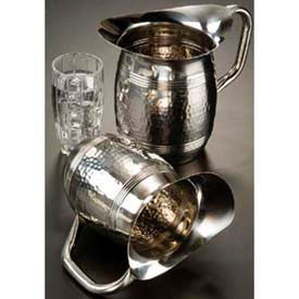 """American Metalcraft HMWP85 - Bell Water Pitcher, 68 Oz., 8""""H, Hammered Finish"""