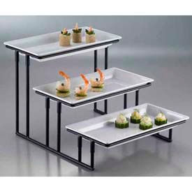 American Metalcraft IS18 - Display Stand, 3-Tier, 20 x 13-3/4 x 12, Stair Step, Wrought Iron