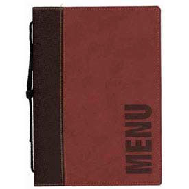 "American Metalcraft MCTRLSWR - Securit Trendy Sewn Menu Cover, 10"" x 13"", Wine Red"