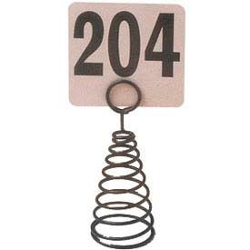 "American Metalcraft MHSB7 - Spiral Number Holder, 6""H, Black"