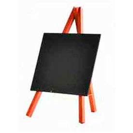 "American Metalcraft MNIMKR - Securit Tabletop Mini Chalkboard, 6"" x 10"", Mahogany Easel - Pkg Qty 3"