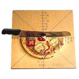 "American Metalcraft MPCUT4 - Pizza Slice Cutting Board And Guide, 20 x 20 x 1/4"""