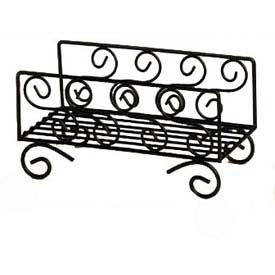 American Metalcraft NDSS95 - Napkin Basket, 8-3/4 x 5 x 4-1/2, Black Swirl Design