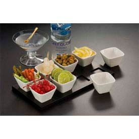 American Metalcraft PORD39 - Sauce Cup, 3 x 1, Square, Porcelain
