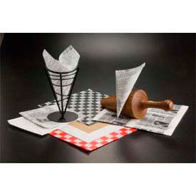 American Metalcraft PPCH3R - Fry Paper, 12 x 12, Red, Checkerboard (1,000 Each Per Pack)