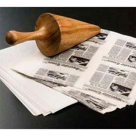 """American Metalcraft PPRN76 - Wax Fry Paper Bags, 7"""" x 6"""", Newsprint Bleached, 250 Per Pack"""
