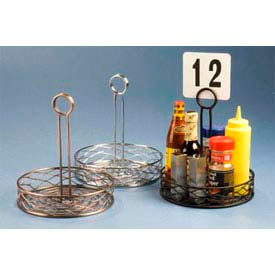 "American Metalcraft RBNC27 - Birdnest Condiment Rack, 7-3/4"" Dia., Wire, Chrome Finish"