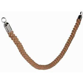 "Securit®Barrier System Rope, 2"" Dia X 60, Braided, Bronze With Chrome Ends - Min Qty 2"