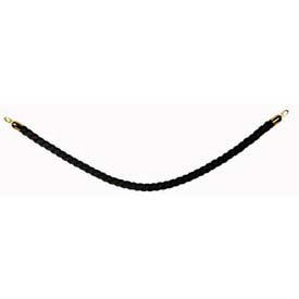 """Securit®Barrier System Rope, 2"""" Dia X 60"""", Braided, Black With Gold Ends - Min Qty 2"""