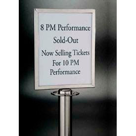 Barrier System Sign, 8-1/2x11, Chrome - Min Qty 3
